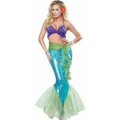 Amazon.com: California Costumes Mythic Mermaid Adult Costume-: Clothing