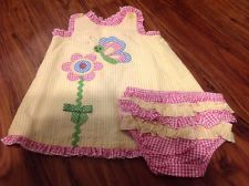 NWT Bonnie Baby 18M Pink,Yellow, Blue Gingham Butterfly Flower Open Back Dress in Clothing, Shoes & Accessories, Baby & Toddler Clothing, Girls' Clothing (Newborn-5T), Dresses | eBay