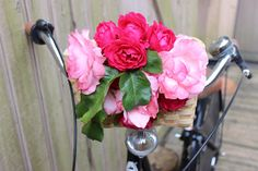 How to Decorate a Bike: Weave flowers into the basket