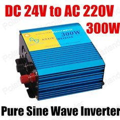 high quality 300w Pure Sine Wave Power Inverter 24V DC to 220V AC Power inverter Car Inverter Converter  50HZ