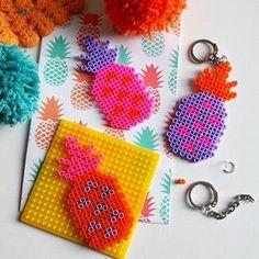 Belle journée colorée IG !! #instacolor #lovecolors #colourful #colormyworld #colour #pineapple #ananas #hama #bead #perler #diy #blogdiy #creamalice