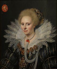 Mierevelt, Michiel Janszoon van. Portrait of a lady of the family Van Beijeren van Schagen (Theodora van Duvenvoorde?), 1620