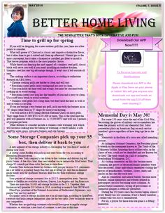 May Newsletter 2016 Mother's Day Gift Idea in our newsletter.