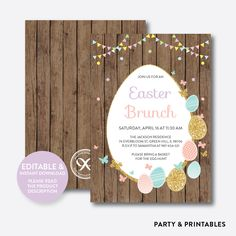 Easter Brunch Hol... http://partyandprintables.com/products/easter-brunch-holiday-invitation-editable-instant-download-rhi-01?utm_campaign=social_autopilot&utm_source=pin&utm_medium=pin #partyprintables #birthdayinvitation #partysupplies #partydecor #kidsbirthday #babyshower
