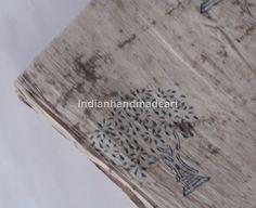 1 Yard  Hand Block Print Handmade 100% Cotton Indian Natural Tiy Dyd tree Fabric #Handmade