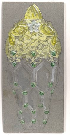 Design Drawing for Perfume Container Exhibited at 1893 Columbian Exposition in Chicago Tiffany & Co.