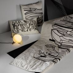 Embroidered illustrations inspired by natural rock formations pattern the textured surface of cool, natural tones of linen and cotton. Celebrating the decorative qualities of natural phenomenon in bold embroidered strokes, Geo is the no-fuss monochromatic that packs a graphic punch. Scandinavia Design, Tom Dixon, Rock Formations, Geo, Punch, Surface, Cushions, Throw Pillows, Illustrations
