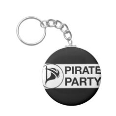 Vote Pirate Party key chains