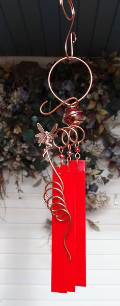 Fairy Glass Wind Chimes Windchime Copper by DragonflyDreams1
