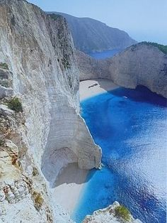 The blue waters of Greece