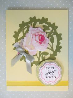 Circle vine cut on Paper Lace Cartridge and Anna Griffin flower sticker and sentiment