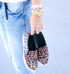 leopard slip on sneakers available at loavies.com