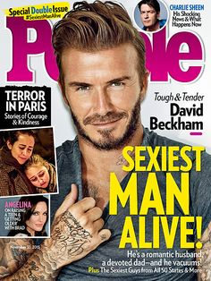David Beckham Is People's Sexiest Man Alive, Which Is Acceptable