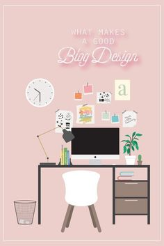 Website Design Tips Anyone Can Understand And Use Blog Templates Free, Blogger Templates, Ideas Habitaciones, Foto Top, Web Design Tips, Design Blogs, Wordpress Template, Branding, Flat Illustration