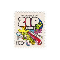 "Qty of 10 - Unused Vintage Postage Stamps ""Zip Code"" 10 cent stamp - No. 1511 on Etsy, $4.25"