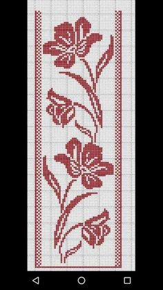 Cross Stitch Bookmarks, Cross Stitch Heart, Cross Stitch Borders, Cross Stitch Flowers, Cross Stitch Designs, Cross Stitching, Cross Stitch Embroidery, Embroidery Patterns, Hand Embroidery