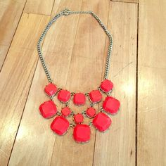 Orange statement necklace Orange and gold statement necklace Jewelry Necklaces