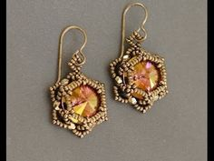 Sidonia's handmade jewelry - Sunset Glare - Beaded Earrings - YouTube