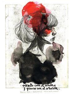 Comprar ilustraciones Paula Bonet print No te acabes nunca María Leach lámina poema amor desamor