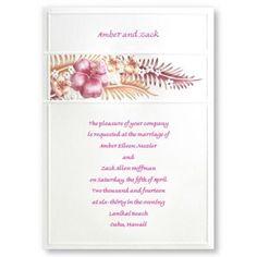 Tropical Bliss Wedding Invitations by TheAmericanWedding.com