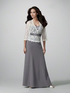 Like the lace top and skirt, but not gray - something like this with red and off white