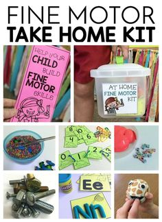 FREE printables to support this take home kit for fine motor practice.