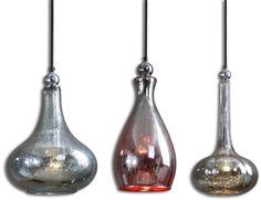 Uttermost Mercury Glass Pendants