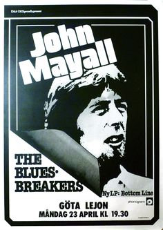 John Mayall 1980 Vintage Concert Posters, Music Posters, Art Posters, John Mcvie, Mick Fleetwood, John Mayall, Gig Poster, Blues Artists, My Generation