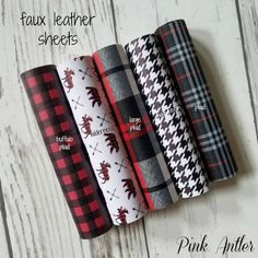 faux Leather Sheets Red & Black Buffalo PLAID Moose Bear red blk and blk white Houndstooth Plaid fabric sheet for bows diy earrings Deer Diy Leather Earrings, Diy Earrings, Leather Jewelry, Cricut Monogram, Cricut Vinyl, Diy Jewelry Hanger, Red Sheets, Cricut Tutorials, Cricut Ideas