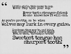 little red riding hood quote - Google Search