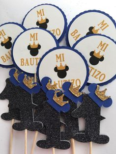 Personalized Mickey mouse prince cupcake toppers 12pc any