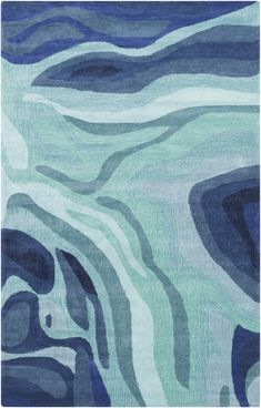 Found it at AllModern - Pigments Hand-Tufted Blue Area Rug Rectangular Rugs, Modern Area Rugs, Hand Tufted Rugs, Carpet Design, Blue Area Rugs, Blue Rugs, Teal Rug, Carpet Runner, Artwork
