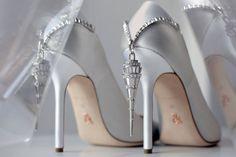 Fancy Shoes, Unique Shoes, Pretty Shoes, Cute Shoes, Me Too Shoes, Ralph And Russo Heels, Ralph & Russo, Bridal Shoes, Wedding Shoes