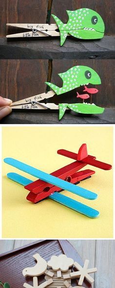 Clothespin puppet