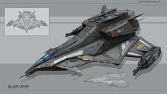 ArtStation - Black Crow Gunship, Alexei Alander