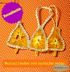 Recopilación de manualidades con naranjas secas