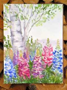 Let's Paint Lupines!