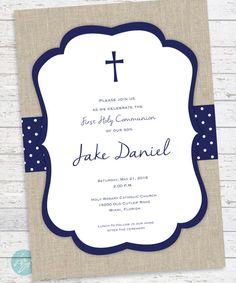 Primera comunión invitación comunión primera por FlairandPaper