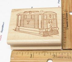 TOBY THE TRAIN OF THOMAS THE TRAIN BY BA RUBBER STAMP #THOMASTHETRAIN #RUBBERSTAMP