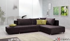 Rohová sedacia súprava Elia s možnosťou rýchleho rozloženia #sofa #settee #divan #couch