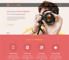 KreativePixel Free #Responsive #HTML5 #CSS3 #Mobileweb Template