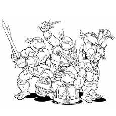 Happy Birthday Teenage Mutant Ninja Turtles Coloring Page ...