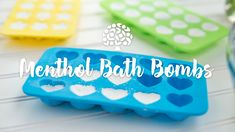 These DIY menthol bath bombs are a great remedy to use in the bath or shower when you or your loved ones are feeling under the weather. Try this easy DIY today! Coconut Oil Sugar Scrub, Florida Oranges, Feeling Under The Weather, Kid Drinks, Bath Bomb Recipes, Diffuser Recipes, Home Made Soap, Bath Bombs, Body Care
