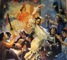 pintura-y-baile-flamenco - Buscar con Google
