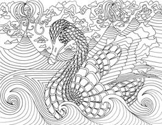 Psychedelic Mushroom Coloring Pages Trippy Bmushroom
