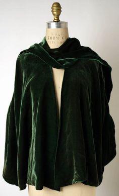 Silk velvet wrap c 1924 Chanel  1924 MET