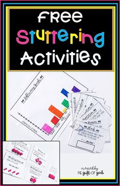 This set of free stuttering activities for speech therapy contains hands on and . - - This set of free stuttering activities for speech therapy contains hands on and engaging learning opportunities for students who stutter! Preschool Speech Therapy, Speech Language Pathology, Speech And Language, Preschool Songs, Speech Therapy Games, Fluency Activities, Shape Activities, Articulation Games, Play Therapy