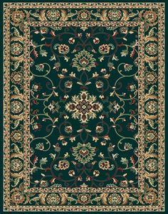 "Traditional Hunter Green Area Rug 6x8 Persian Carpet Actual 5' 3"" x 7' 10"" | eBay"