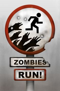 "Zombies, RUN! iPhone app avail 2/27/12 ""The premise is simple: you are ""Runner 5"" set out on a mission to collect supplies and accomplish different objectives in a post- apocalyptic world. The app takes you through 13 audio missions, all which feature an ongoing story that you are an active part of and that involves the occasional zombie chase."" As reported on npr.org"