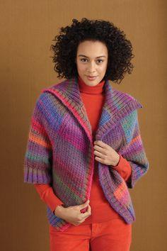 Lion Brand® Amazing® Raglan Sleeve Toppe #knit #pattern